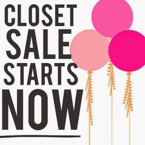 30% OFF HUGE CLOSET CLEAR OUT SALE
